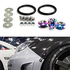 UNIVERSAL COLORFUL  ALUMINUM QUICK RELEASE FASTENER KIT FOR BUMPER & TRUNK HATCH