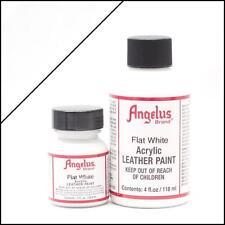 Angelus Flat White acrylic leather paint in 4oz bottle