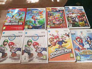 Nintendo Wii 8 Games Joblot Mario Kart, Super Smash Bros galaxy party bros