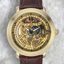 Louis Bolle Skeleton Mens Watch / MSRP $799.99