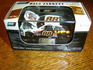 Dale Jarrett #88 UPS 2001 Ford Taurus 1/64 Revell Hood Open W/Acrylic Case NEW