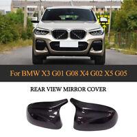 2xCarbon Spiegelkappen Abdeckung Gehäuse Für BMW X3 G01 G08 X4 G02 X5 G05 2019+