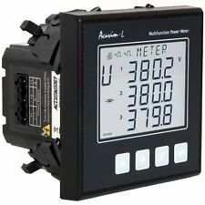 AccuEnergy Acuvim-AL-D-5A-P1 Multifunction LCD Power Meter, 100-415VAC, 50-60Hz.