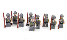 Confederate Army Soldiers made with real LEGO® army builder minifigures