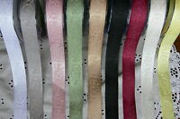 ROSE Embroidered SATIN Ribbon 23mm wide 3 Metre lengths - 8 Colour Choice BL11