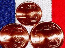 Lot Set France 2016 Francia Serie 1,2,5 Centime Piece Euro Neuve du Rouleau