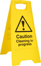 1x Yellow Caution Cleaning In Progress A Board Heavy Duty Folds Flat Work Safety