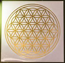 Blume des Lebens - Gold Metallic Aufkleber 28 cm