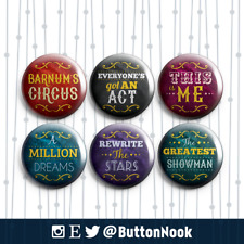 The Greatest Showman - Barnum - Pin Badges / Magnets | Movie Musical