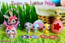 LITTLEST PETSHOP SET LOT EASTER PÂQUES LAPIN RABBIT POUSSIN CHICK #548 557 1995