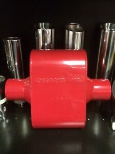 """CHERRY BOMB 7426cb EXTREME RED PERFORMANCE RACE MUFFLER 2.5"""" INLET / OUTLET"""