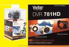 Vivitar HD CAMCORDER CAMERA ACTION WATERPROOF DVR 781HD DVR781HD 5.1 MP 4x
