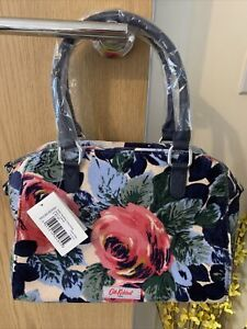Cath Kidston Oxford Rose Suede Feel Maltby Handbag Brand New