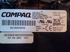 DLT Tape Drive Compaq 15/30 GB TH3AA-HK 70-60158-04 SCSI SE B01 4 pin E164053