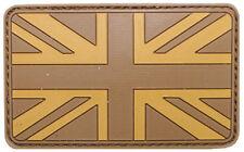 PATCH in gomma con VELCRO - 8 x 5 cm - Bandiera REGNO UNITO (versione desertica)