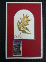 SAN MARINO MK 1967 FLORA BLUMEN FLOWERS MAXIMUMKARTE MAXIMUM CARD MC CM c1380
