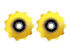 New MTB Road Bike Derailleur Jockey Wheel Solid Pulley Shimano 11T Gold