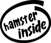 Hamster Inside Text Vinyl Sticker Decal - Choose Size & Color