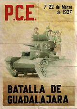 RARE ORIG COMMUNIST SPANISH CIVIL WAR POSTER! VICTORY at BATTLE of GUADALAJARA!