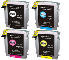 4 Non-OEM 940XL Replaces Use For HP OfficeJet Pro 8500A Plus e All-in-one Inks