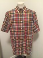 VTG WOOLRICH Short Sleeve Shirt Mens Size Large Plaid