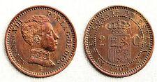 ESPAÑA - Alfonso XIII. 2 Centimos 1904*04. Variante 0 partido. EBC-/XF-. Escasa