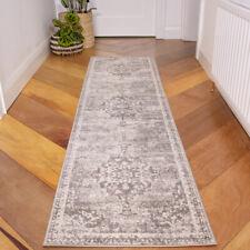 Faded Grey Hallway Runner Transitional Modern Area Rug Long Hall Carpet Runners