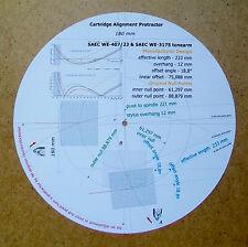 SAEC we-407/23 & we-317s progettati su misura Cartuccia Stylus allineamento Goniometro
