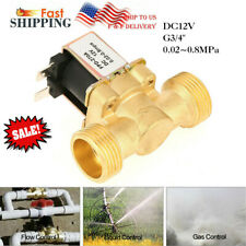 3/4 INCH 12V DC Normally Closed Brass Electric Solenoid Valve Gas Water Air CA