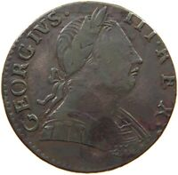GREAT BRITAIN HALFPENNY 1776 GEORGE III. EVASION #t149 127