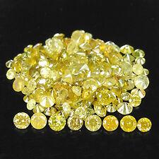 FANTASTIC 3.03tcw 1.7 - 2.1mm Golden Yellow 100%Natural Round Loose Diamonds Lot