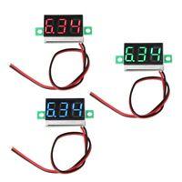 """Digital Voltmeter 0.36"""" 2-wires DC 2.50 to 32.0V LED Volt Meter Voltage Gauge"""