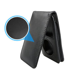 Magnetic Leather Sleeve Pouch Case W/Belt Clip for iPod Classic 80GB/120GB/160GB