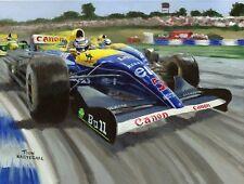 Print on canvas Red Five: Nigel Mansell op Silverstone 1992, Toon Nagtegaal (OE)