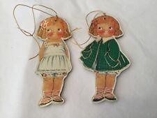 Merrimack Publishing 1982 two Dollie Dingle ornaments