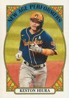 Keston Hiura 2021 Topps Heritage New Age Performers Insert Card #NAP-24 Brewers