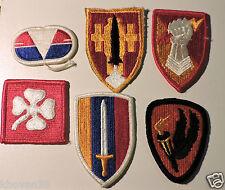 Lot de 6 patchs US divers