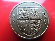 ROYAL MINT 2012 SHIELD EXCELLENT USED 1 POUND COIN