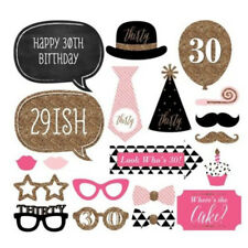 20* 30th Birthday Party Photo Booth Prop Mask Moustache Photography DIY Sticks