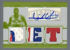 2006-07 Triple Threads Isiah Thomas Auto Relic White Whale Yellow Plate #1/1
