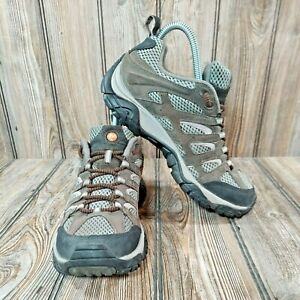 Womens Merrell J87336 Moab Beluga/Lilac Waterproof Trail Hiking Shoes! Size 8