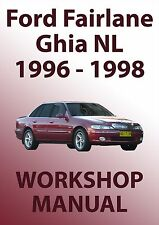FORD FAIRLANE NL Series WORKSHOP MANUAL: 1996-1998