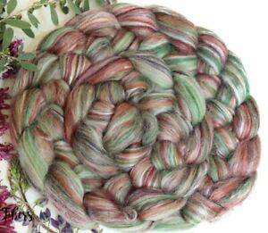 AUTUMN - Merino Silk Wool Roving Color Blend Combed Top Spinning Felting - 4 oz