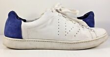 Vince Varin Two Tone Plaster Cobalt Leather Fashion Sneakers Womens Size US 9M
