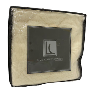 Live Comfortably Reversible Wool or Cotton Mattress Topper, Full, Cal King, King