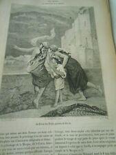 Les Hadjis le pèlerinage de la Mecque Gravure Antique Print 1882