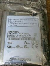 "New Toshiba 4200 RPM 1.8"" MK6024GAL 60GB ZIF Hard Driver for Hp Mini 1000 2710P"