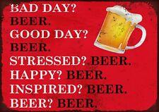 Beer metal wall sign