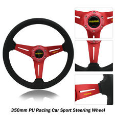 New 350mm RED Racing Car Sport Steering Wheel with Horn Button (5131)