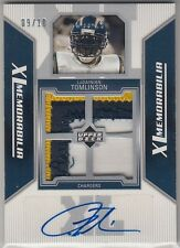 2006 Upper Deck XL Jersey Patch Auto LaDainian Tomlinson /10 Chargers Jets